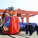 China introduced freight train to London