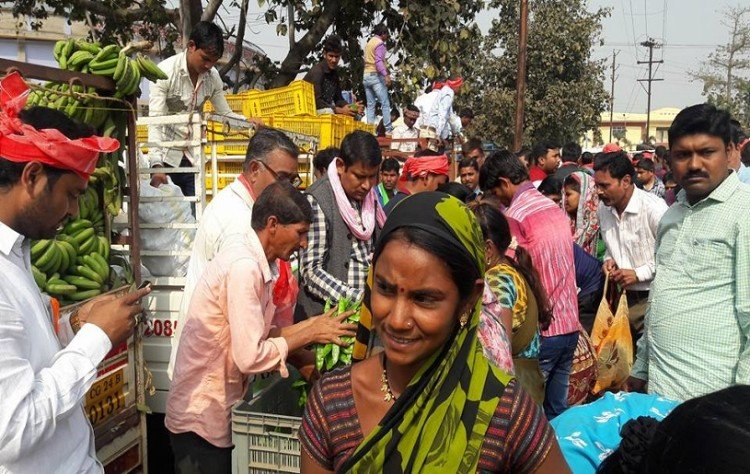 Farmers in Raipur distribute their produce for free after prices of vegetables dip post