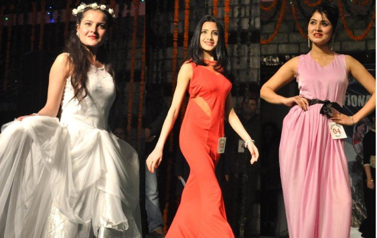 Manali Winter Queen Competition at Manali, live photos.