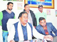 rajkumar saini, press brefing, statement for jat aarakshan, kaithal