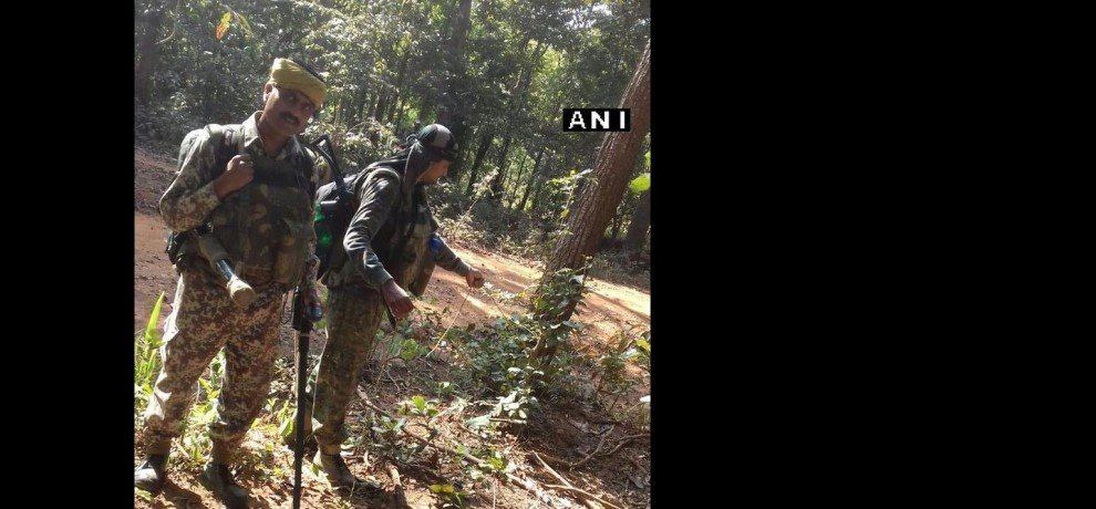 Chhattisgarh Encounter underway between security forces & Naxals in Dantewada