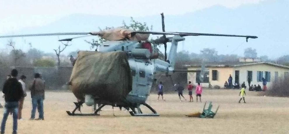 air force helicopter emergency landing in kotdwar.