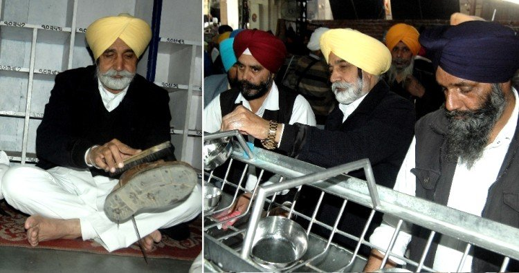 punjab cabinet minister sikander singh maluka at golden temple