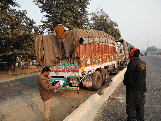 Amla hair oil by truck on highway 462 theft cases