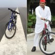 akhilesh yadav gets cycle.