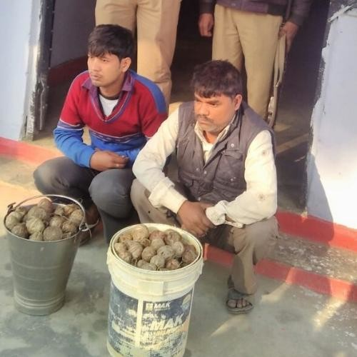 two man arrested with explosive in gonda