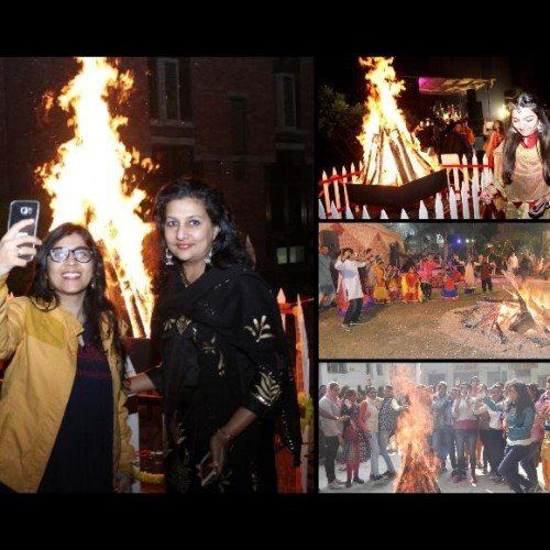 photos of lohri celebration in delhi ncr