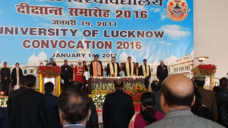 lucknow university convocation starts