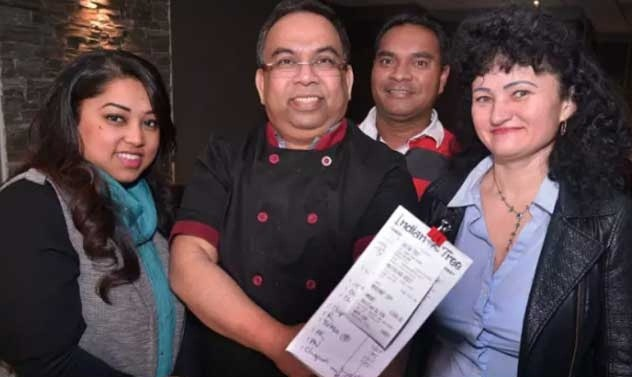 indian chef got 1000 pound tip on 79 pound dinner bill