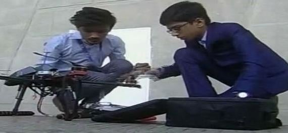 14 year old Gujarat boy sign deal of 5 crore for his own anti landmine drone