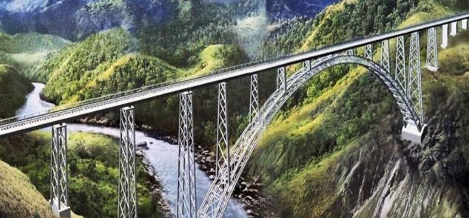 india constructing world's highest railway bridge