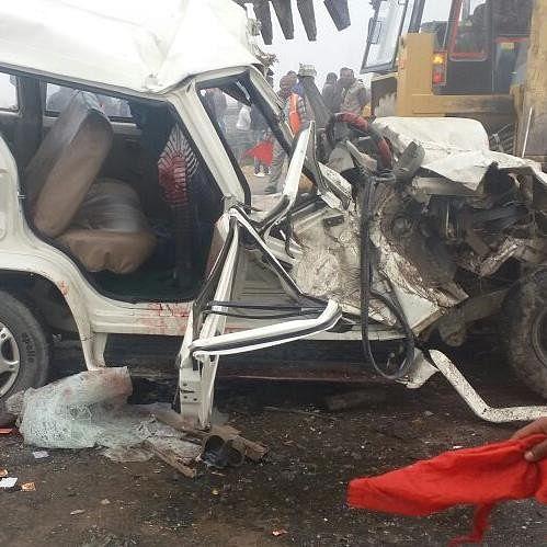 bus and bolero accident in ramnagar barabanki