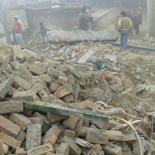 building collapse in roorkee
