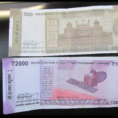 fake currency of 500 and 2000 rupee notes