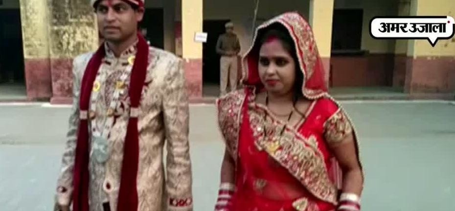 NEWLY MARRIED COUPLE VOTED IN BAREILLY