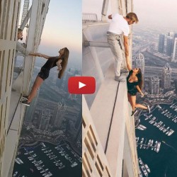 Crazy Girl Risks Her Life For The Perfect Picture