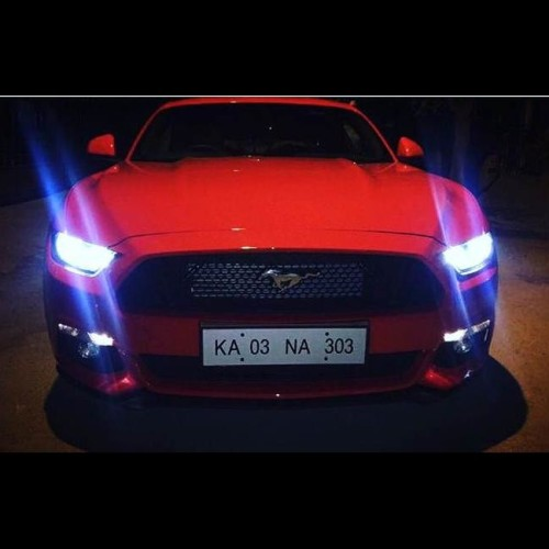 karun nair's ford mustang and special number plate