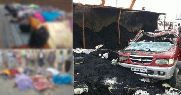 eleven people of a family killed in road accident at firozpur of punjab, horrible photos