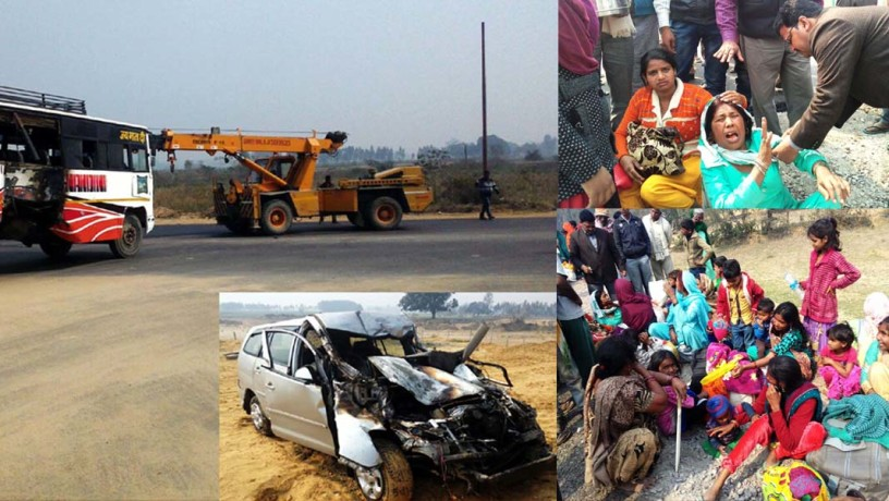 horrific accident on expressway 2 killed 20 more injured