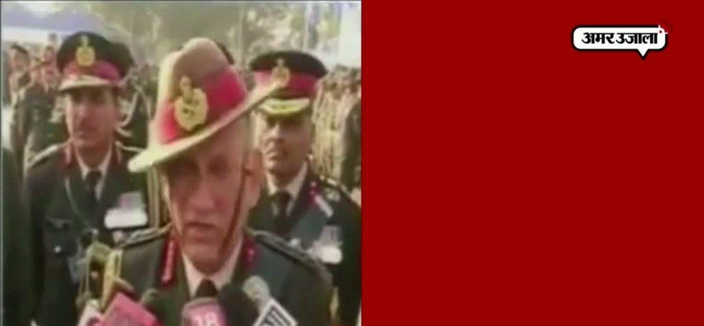 army chief in Kashmir warns stone pelters in Kashmir