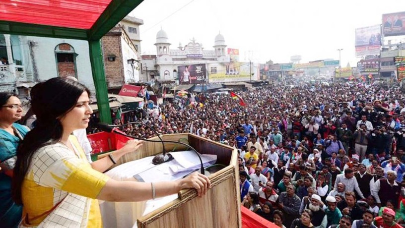dimple yadav public meeting in kanpur