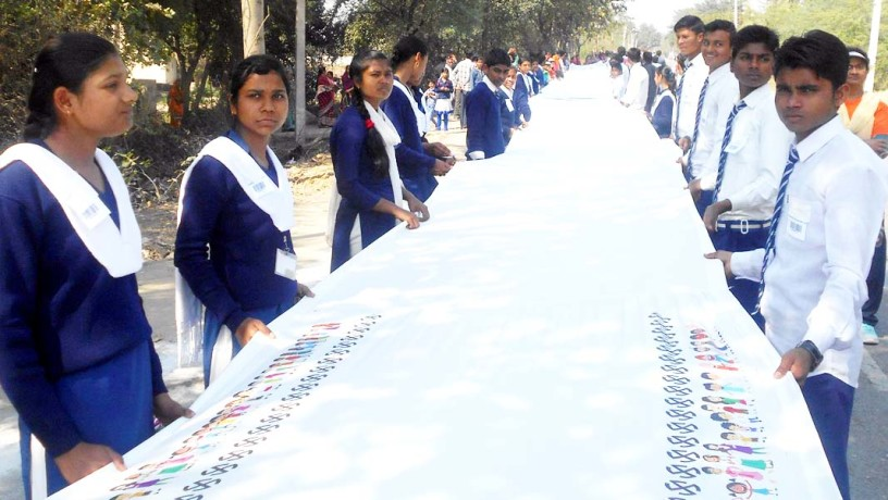 students made a world record