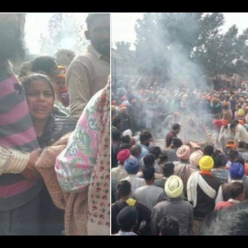 funeral of eleven people killed in accident at firozpur, punjab