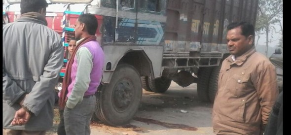 once again a truck hit a child in ghazipur
