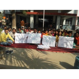 extension lecturers, protest, Sirsa