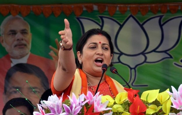 where missing Smriti Irani to UP elections?