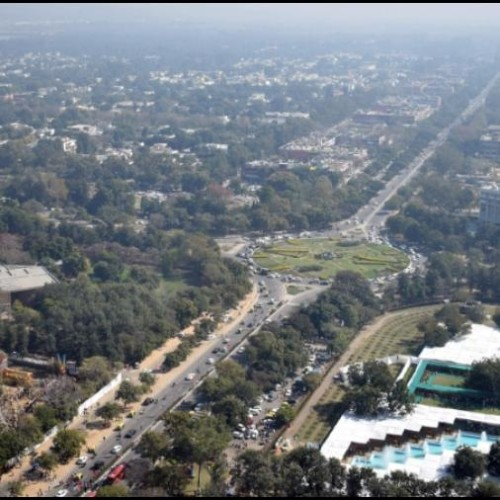 45th chandigarh rose festival started, aerial view of chandigarh city
