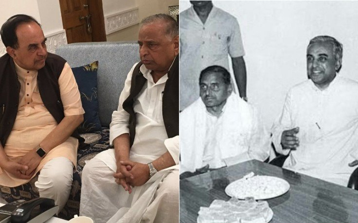 bjp mp subramanian swamy met mulayam singh in lucknow