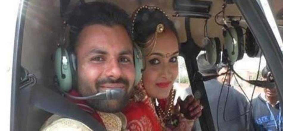 unique marriage, farmer son brought his bride vaya helicopter at karnal of haryana