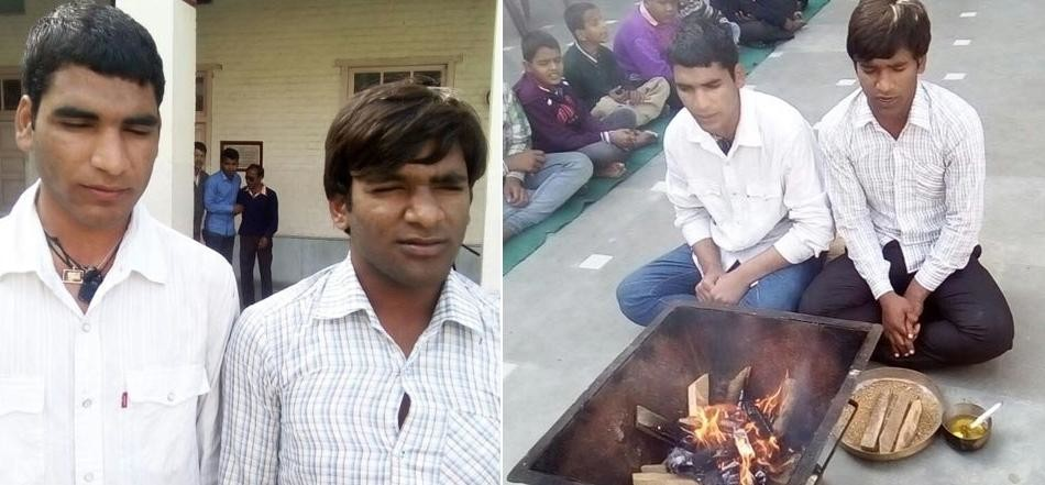 salute to blind muslim brothers, who did hawan and namaj at blind school of amritsat punjab
