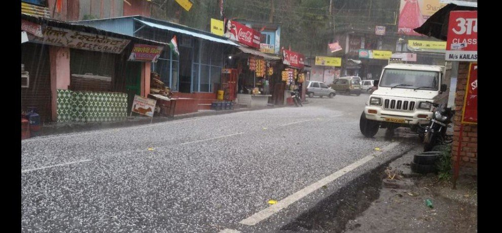 rain and hail storm in uttarakhand kumaon range