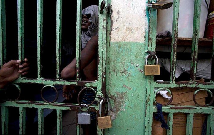 photos shows brutal condition of priosners in port-au-prince's jail