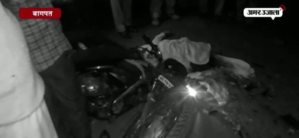 bike and truck collide, one dead in bagpat