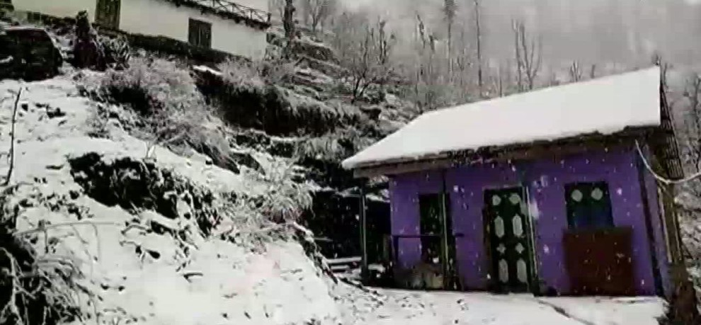 FRESH SNOWFALL IN JAMMU Kashmir