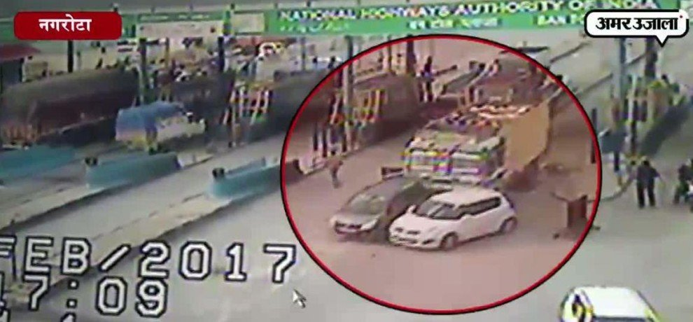 The truck crushed a man, accident captured in  CCTV