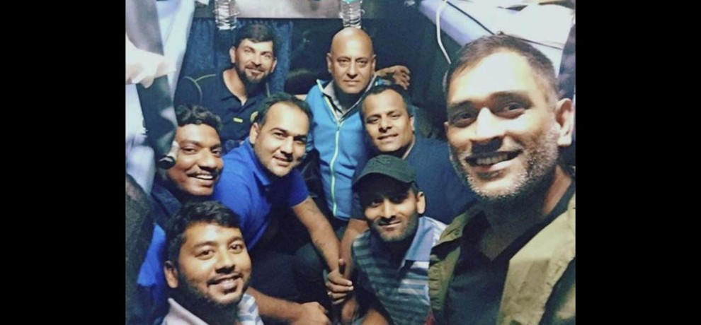 When Dhoni meets  Kharagpur friends during Vijay Hazare Trophy