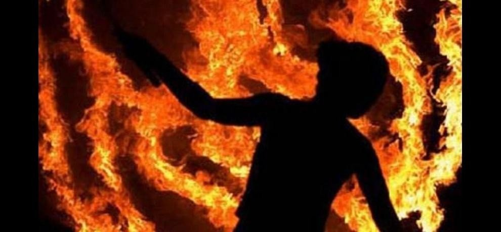Husband set fire to wife did not send her in-laws