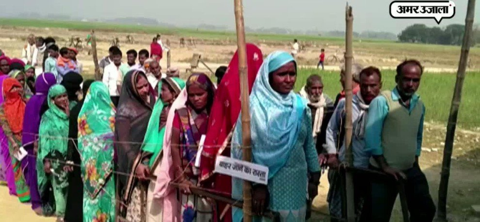 Heavy Voting in Siddharthnagar at Nepal Border in up fifth phase election