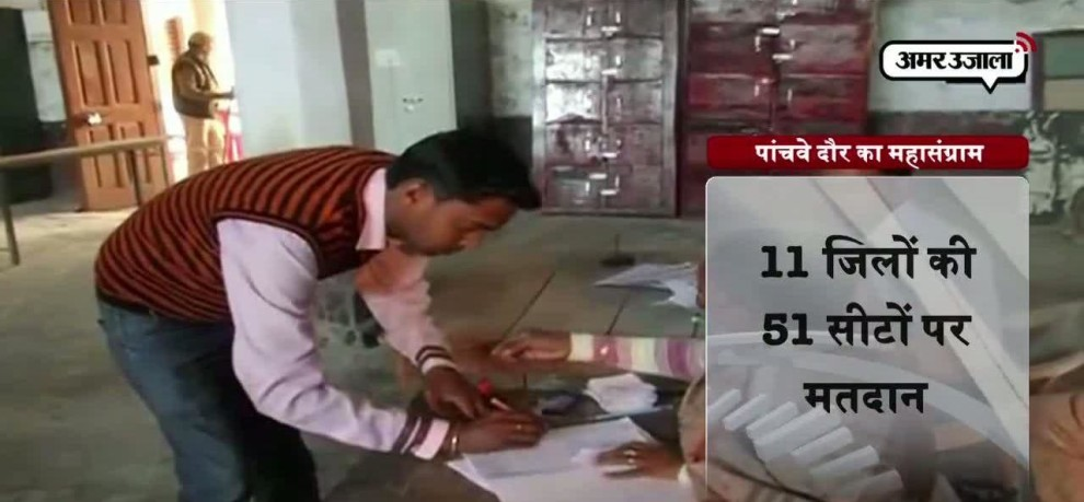 Voting of fifth round in UP assembly election