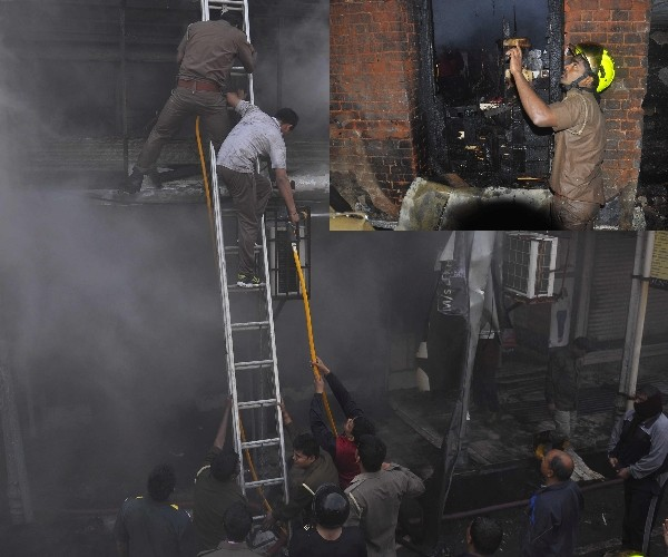 Fire breaks out in Lucknow aminabad market