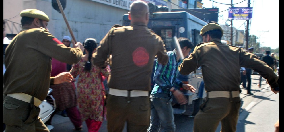 voilance protest in jammu