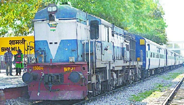 Postponed a passenger, two trains stopped in Shamli