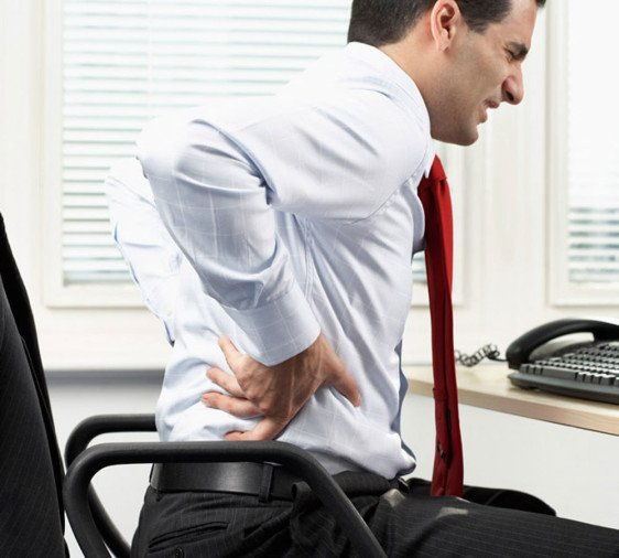 get rid of back pain easily
