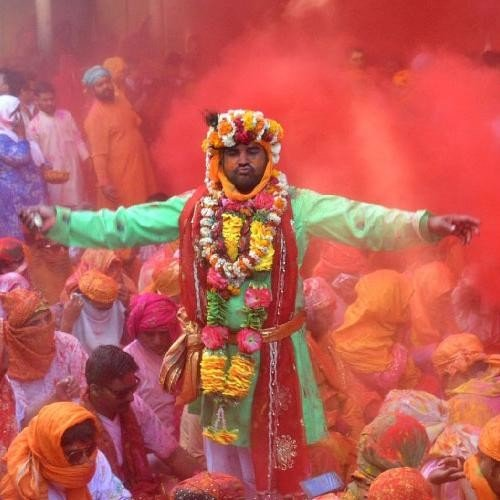 Holi Special- Festivities Starts In Barsana, Witness Colourful Laddu Holi
