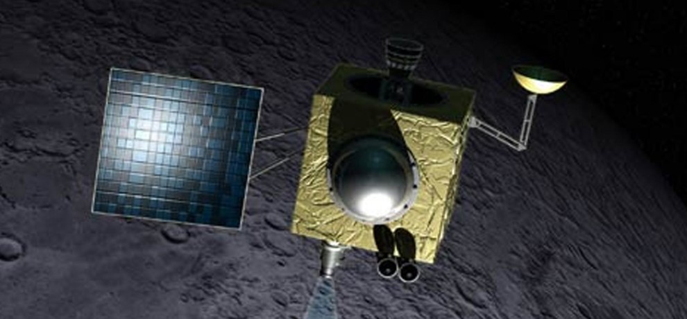 Chandrayaan-1 spotted orbiting the moon by NASA