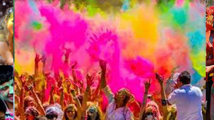 holi in out of the india